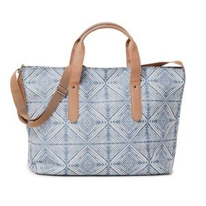 Crown Vintage Geometric Print Overnighter Bag